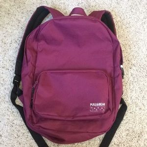 Pull & Bear maroon backpack
